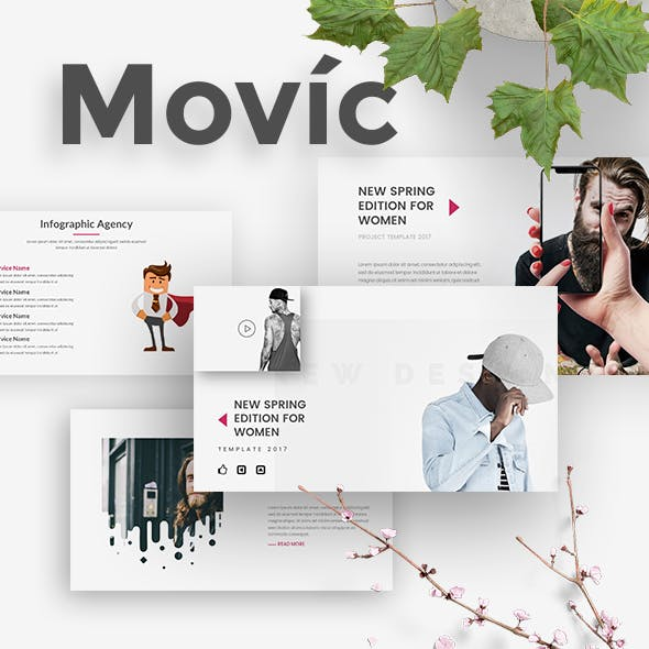 Movic - Clothing and Fashion Keynote Template