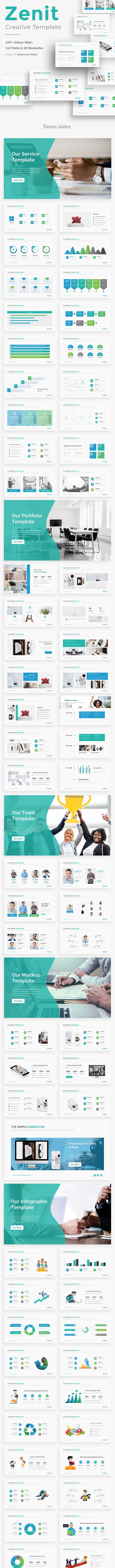 Zenit Business Powerpoint Template - Business Keynote Templates