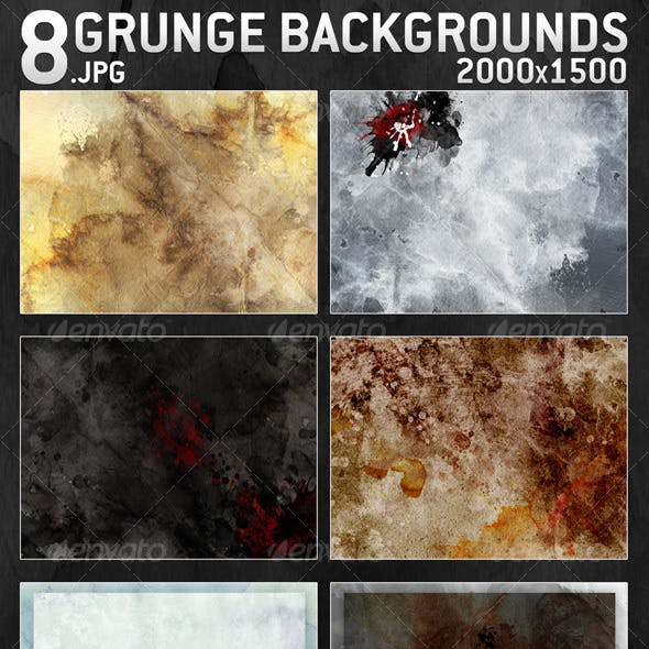 8 Grunge Backgrounds 2000x1500