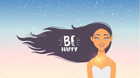 Girl Happy - People Characters
