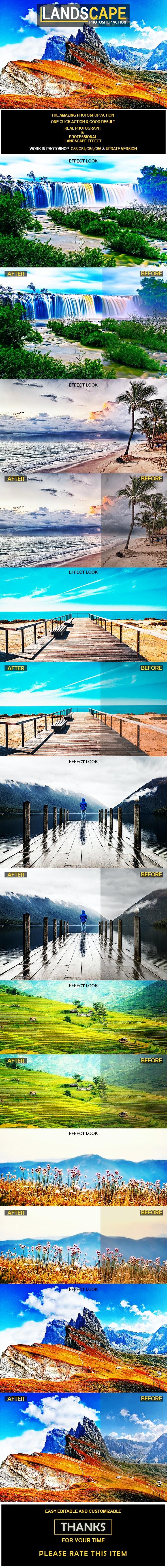 Landscape Photoshop Action - Actions Photoshop