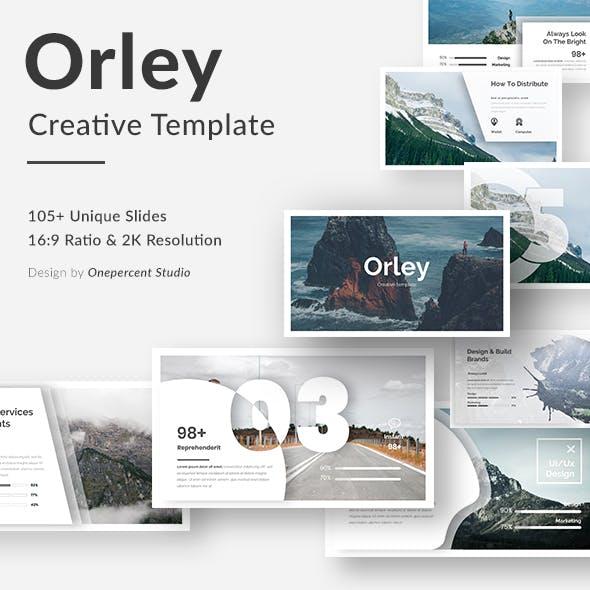 Orley Creative Google Slide Template
