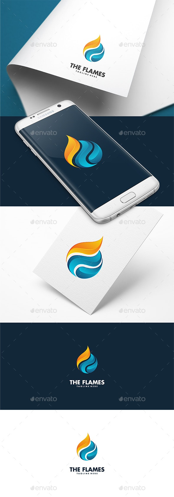 The Flames Logo Template - 3d Abstract