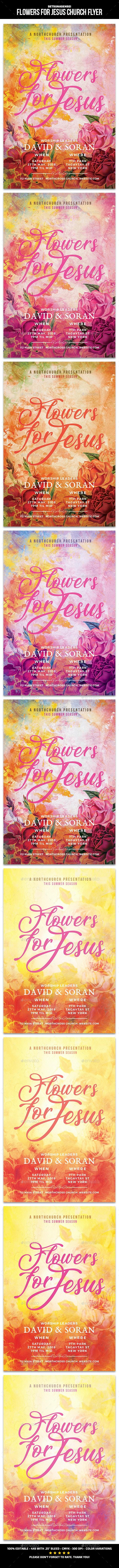 Flowers for Jesus Church Flyer - Church Flyers