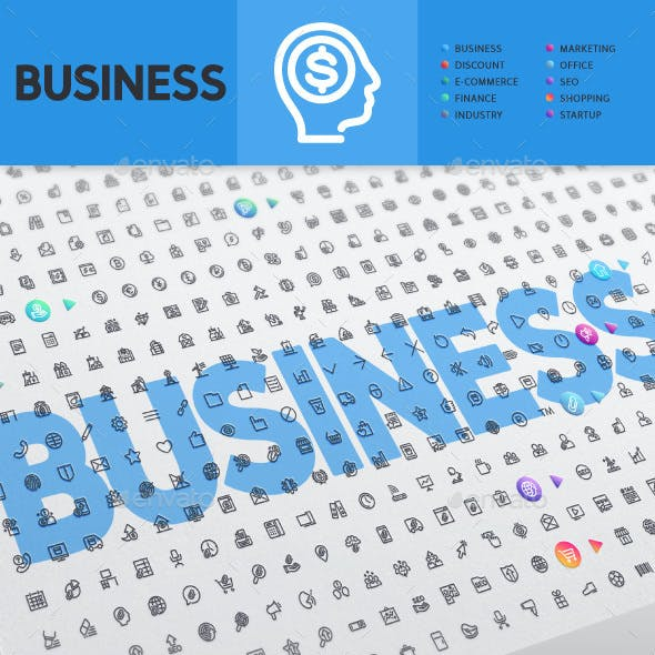 Business Thematic Collection of Line Icons