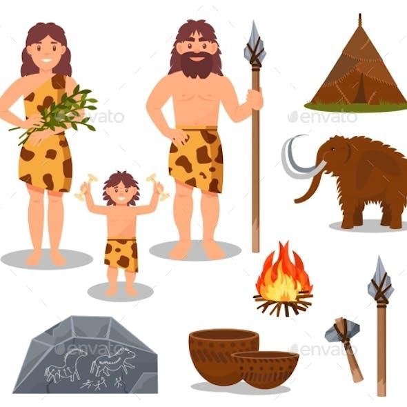 Stone Age Symbols Set