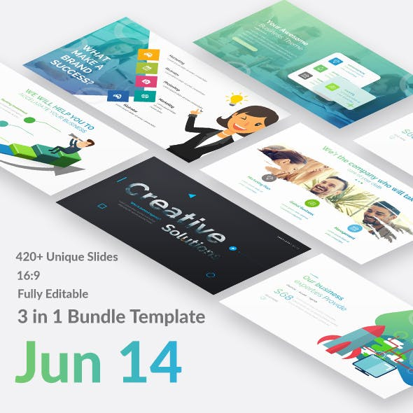 3 in 1 Business - Jun 14 Premium Bundle Keynote Template