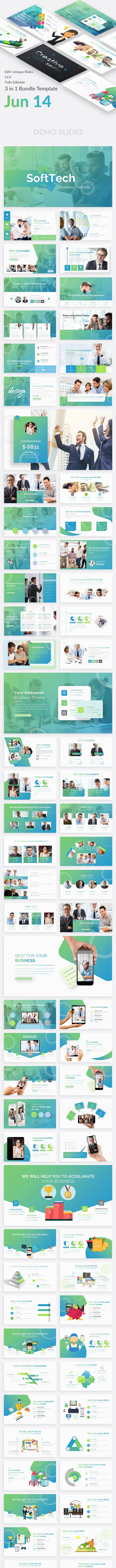 3 in 1 Business - Jun 14 Premium Bundle Google Slide Template - Google Slides Presentation Templates