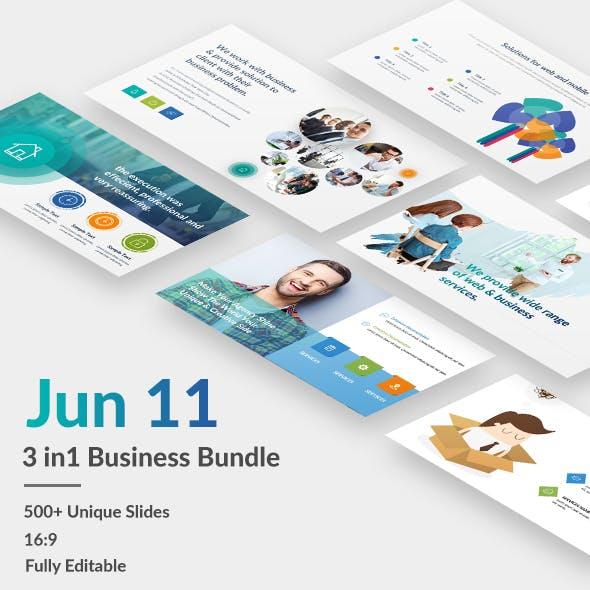 3 in 1 Business - Jun 11 Bundle Powerpoint Template