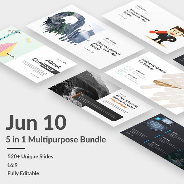 5 in 1 Bundle - Jun 10  Premium Google Slide Template