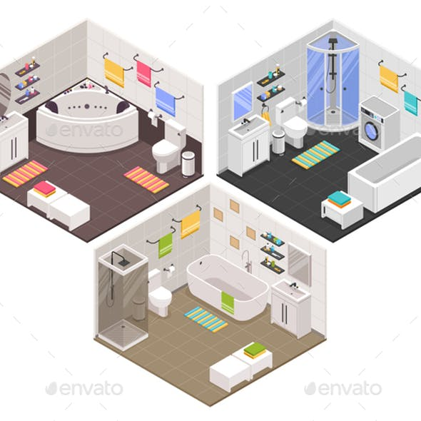 Bathroom Isometric  Set