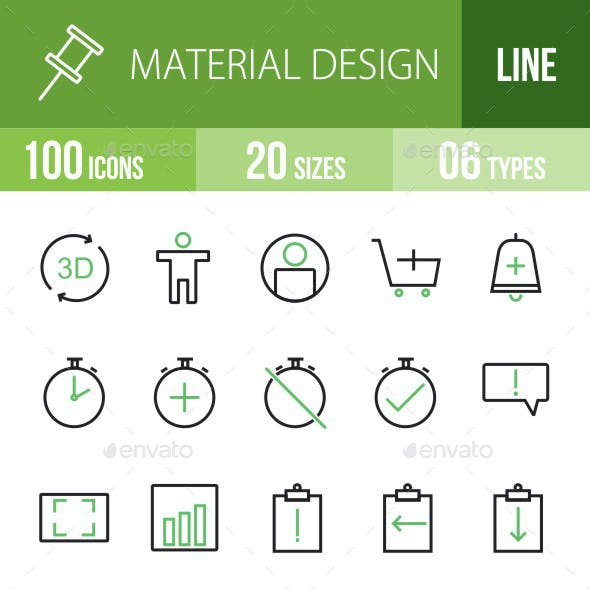 Material Design Green & Black Icons