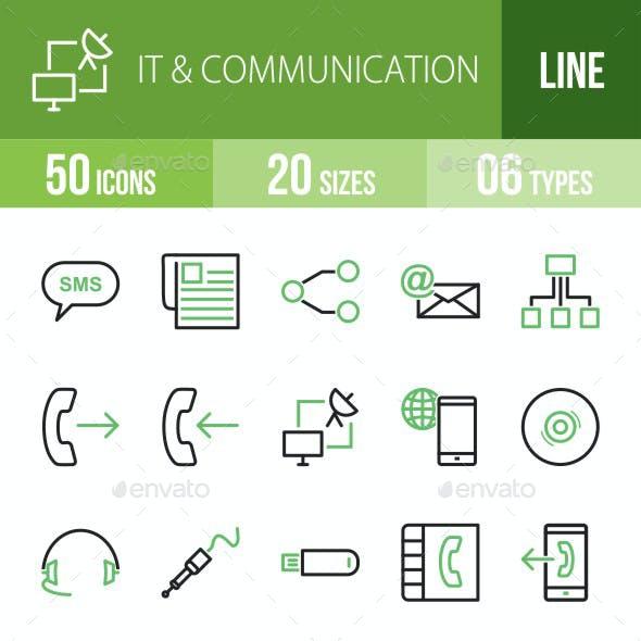 IT & Communication Green & Black Icons