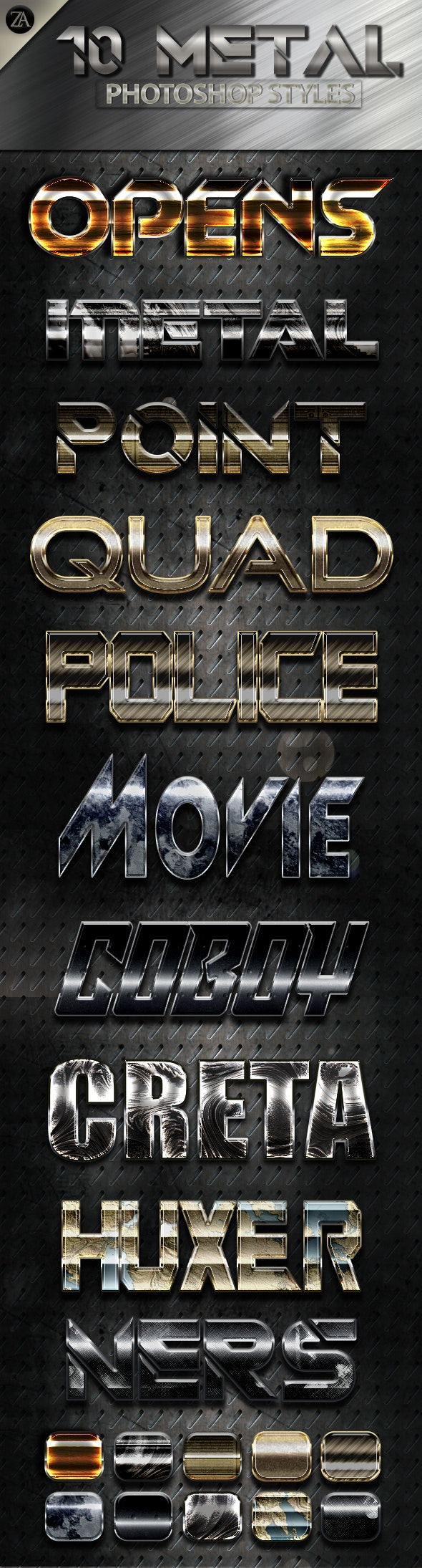 Metal Shiny v9 - Text Effects Styles
