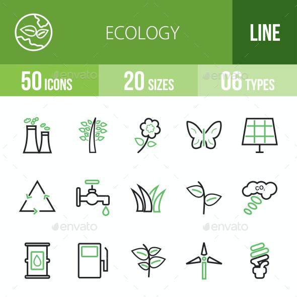 Ecology Green & Black Icons