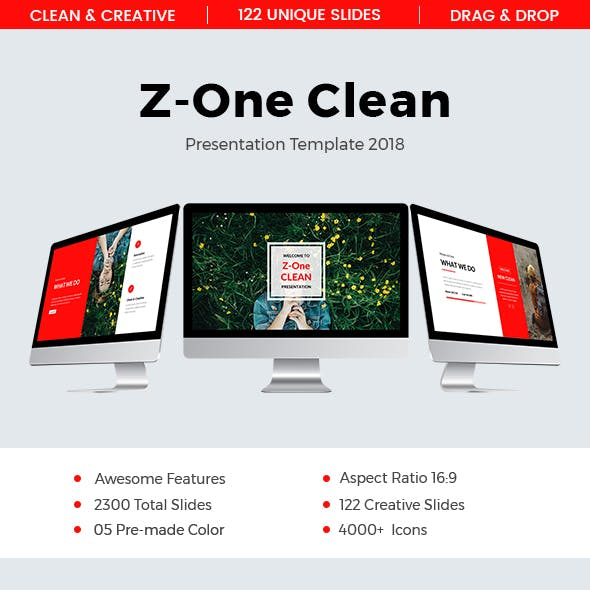 Z-One Clean Powerpoint Template 2018
