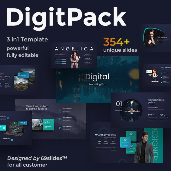 DigitPack Bundle 3 in 1 Keynote Template