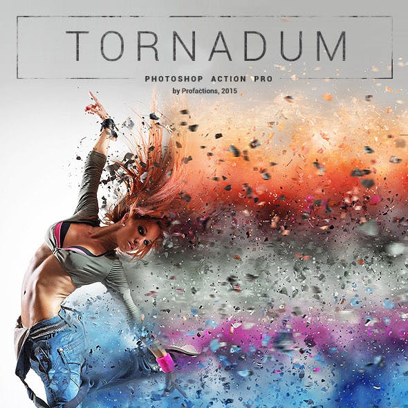 Powerful Dispersion - Tornadum - Photoshop Action