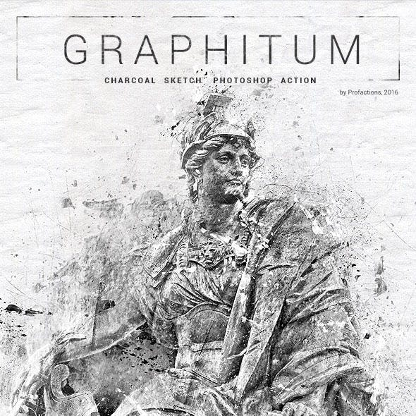 Graphitum - Charcoal Sketch Photoshop Action