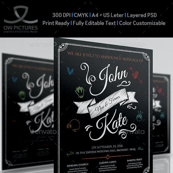 Wedding Party Flyer Template Vol.8