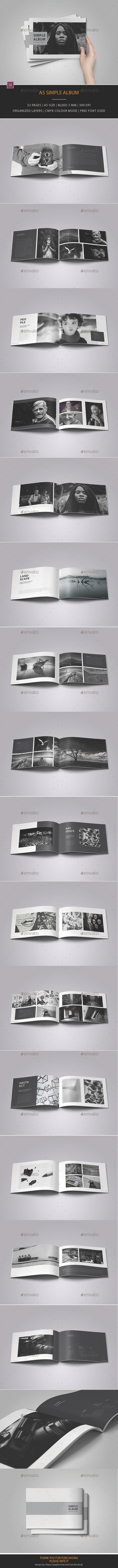 A5 Simple Album - Photo Albums Print Templates