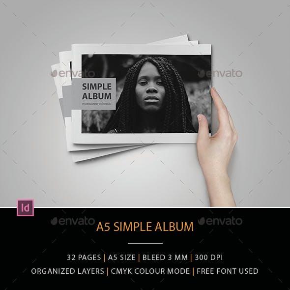 A5 Simple Album