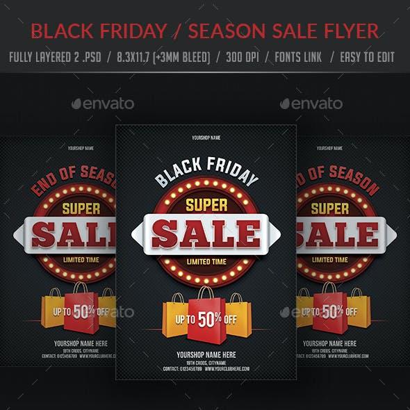 Black Friday  Season Sale Flyer