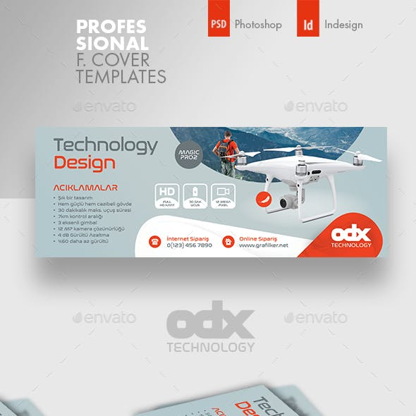Drone Technology Cover Templates