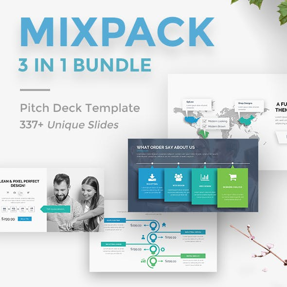 MixPack 3 in 1 Bundle Creative Google Slide Template