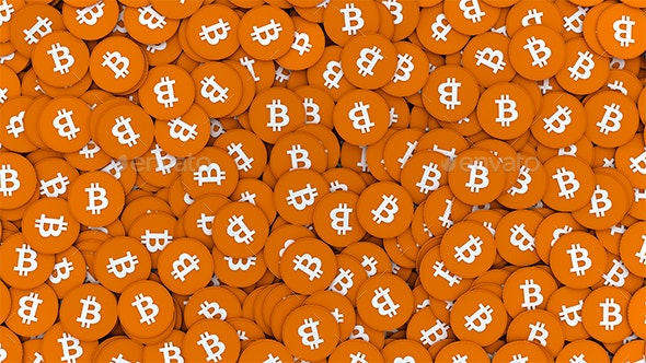 Pile Of Bitcoins - Business Backgrounds
