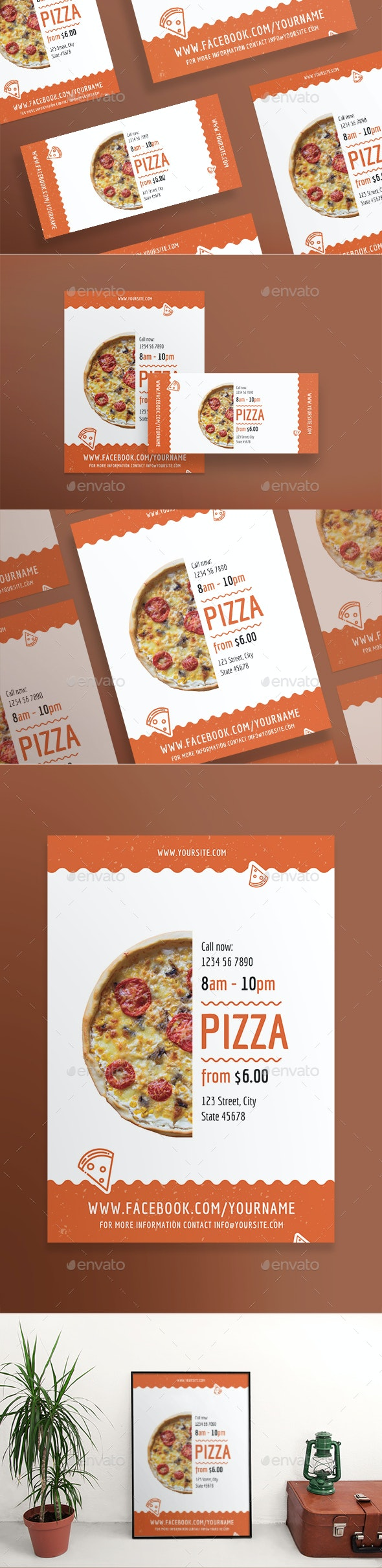Tasty Pizza Flyers - Restaurant Flyers