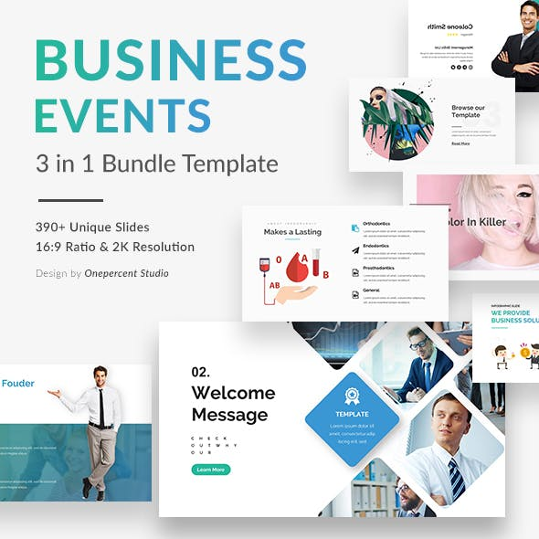 Business Event 3 in 1 Bundle Google Slide Template