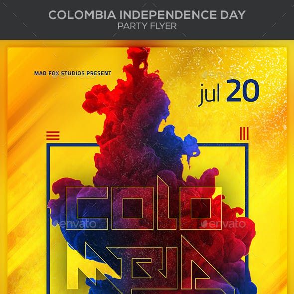 Colombia Independence Day Party Flyer