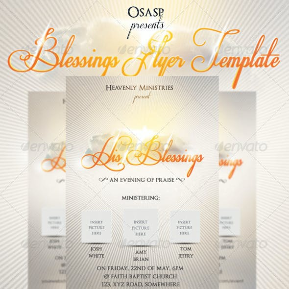 Blessings Flyer Template