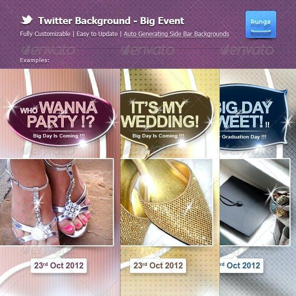 Twitter Background - Big Event