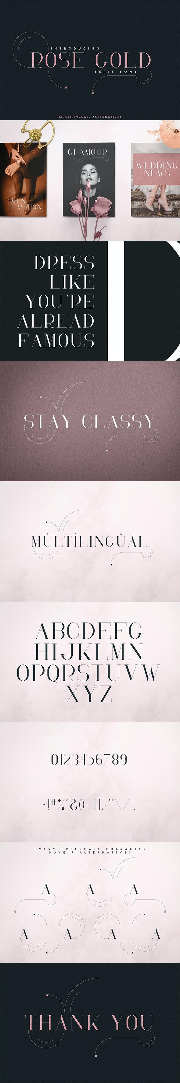 RoseGold Serif font - Serif Fonts