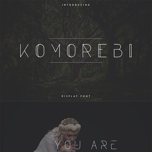 Komorebi Display Font