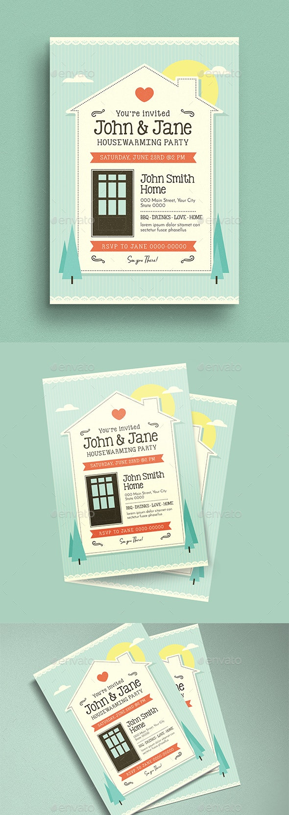 House Warming Flyer/Invitation - Cards & Invites Print Templates