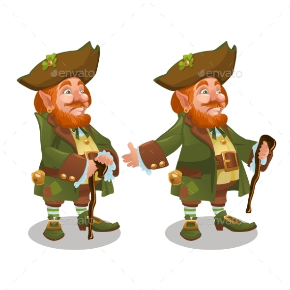 Saint Patrick Day Character Leprechaun with Green - Miscellaneous Seasons/Holidays