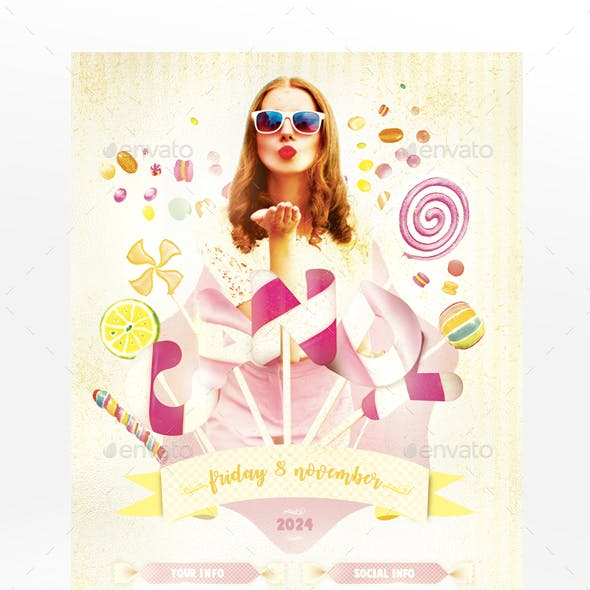 Sweet Candy Flyer Template