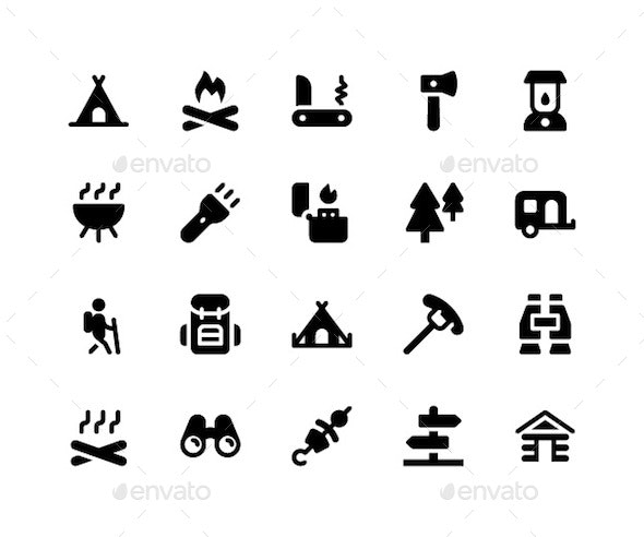 Camping Glyph Icons - Icons