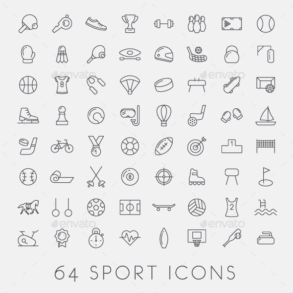 64 Sport Icons - Miscellaneous Icons
