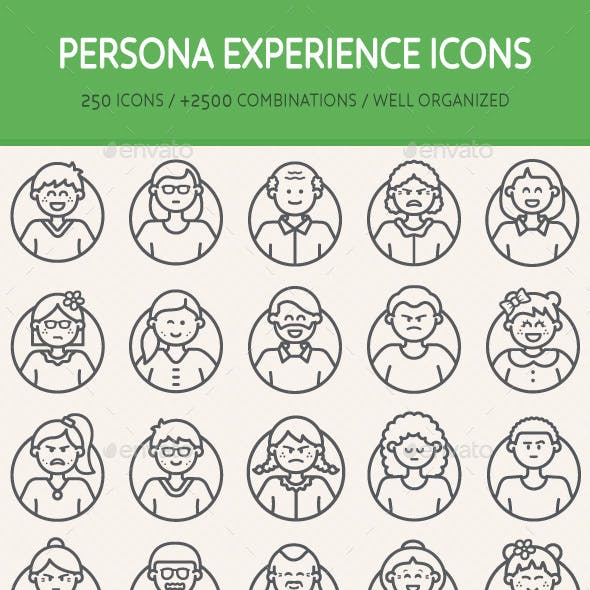 Persona Experience Icons - Bundle