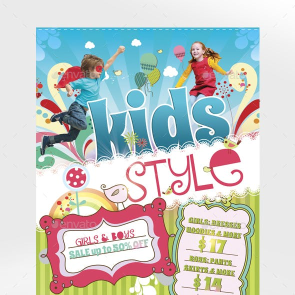 Kids Style Flyer Template