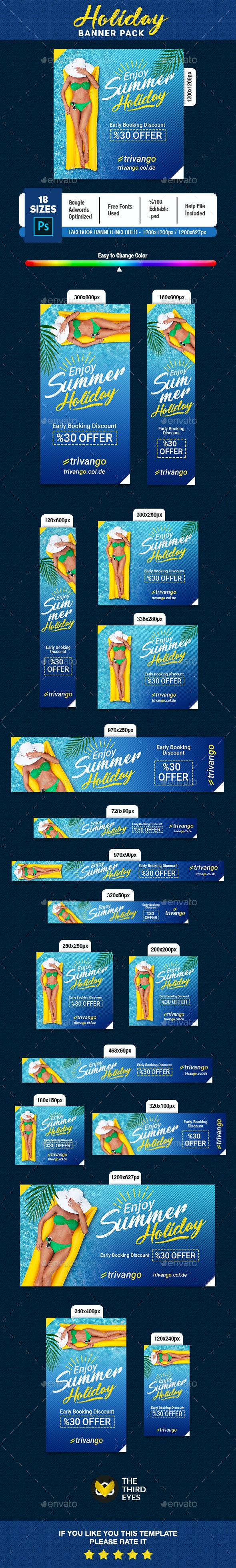 Holiday Banner - Banners & Ads Web Elements