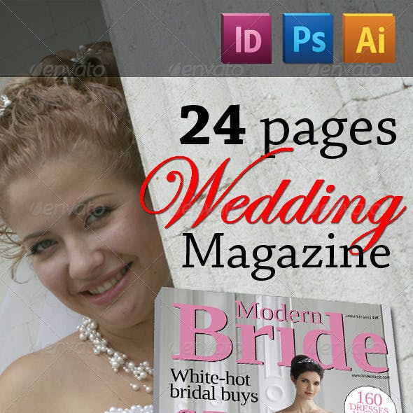 24 Pages Wedding Magazine Version One