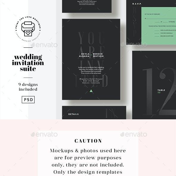 Wedding Invitation Suite 16