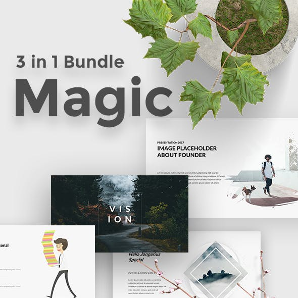 3 in 1 Magic Bundle Keynote Template