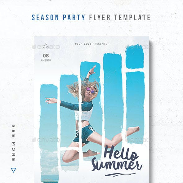 Season Party Flyer Template