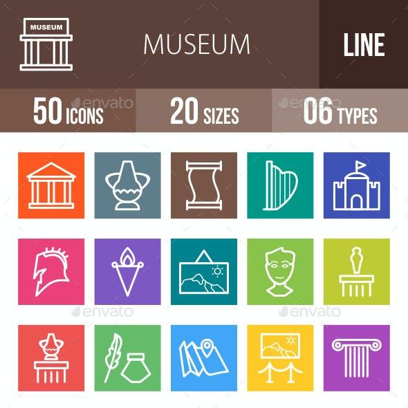 Museum Line Multicolor Icons